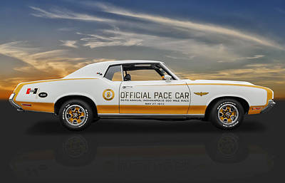 1972 Hurst Olds Pace Car Poster