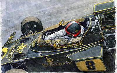 1972 Monaco Gp Emerson Fittipaldi Lotus72 D Poster