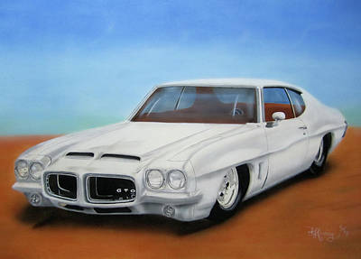 Poster featuring the painting 1972 Pontiac Gto by Thomas J Herring