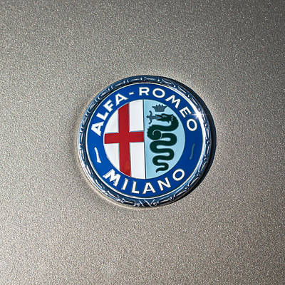 1973 Alfa Romeo Gtv Emblem -0226c55 Poster by Jill Reger