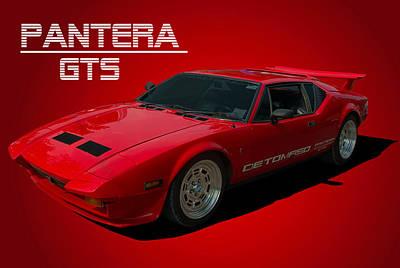 1973 Detomaso Pantera Gts Poster