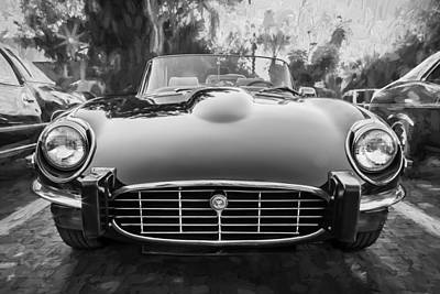 1975 Jaguar Xke V12 Convertible Painted Bw Poster