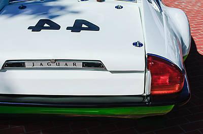 1978 Jaguar Xj-s Group 44 Trans-am Race Car Taillight Emblem Poster by Jill Reger