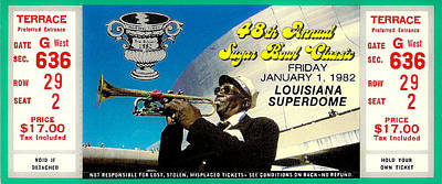 1982 Sugar Bowl Ticket Poster by David Patterson