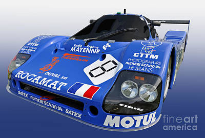 1983 Sauber C6 Group C Race Car Poster