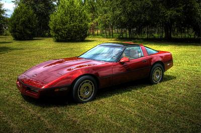 Poster featuring the photograph 1986 Corvette by Donald Williams