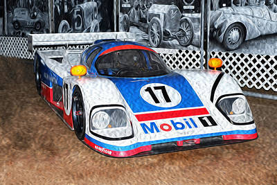 Poster featuring the painting 1989 Aston Martin Amr1/4 by Boris Mordukhayev