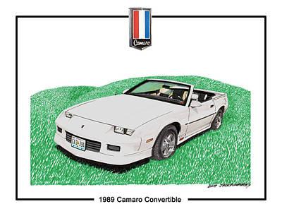 1989 Camaro Convertible Poster by Jack Pumphrey