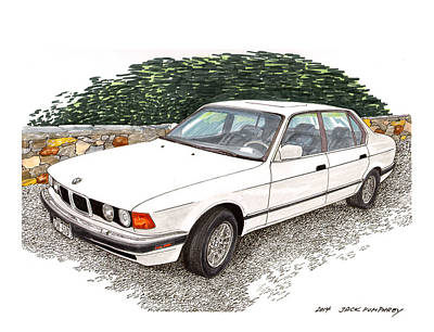 1990 B M W 750i Poster by Jack Pumphrey