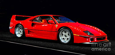 1990 Ferrari F40 Poster by Howard Koby