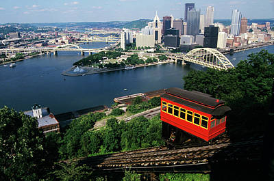 1990s View Of Skyline Pittsburgh Pa Usa Poster