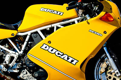 1993 Ducati 900 Superlight Motorcycle Poster