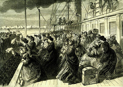 19th Century American Emigrants Poster