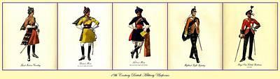 19th Century British Military Uniforms Poster