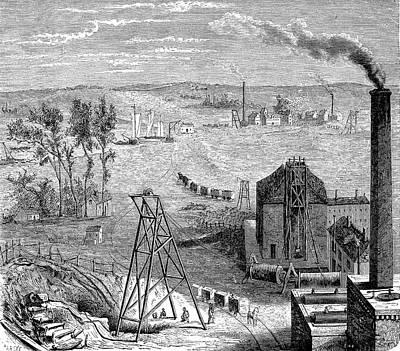 19th Century Coal Mine Poster