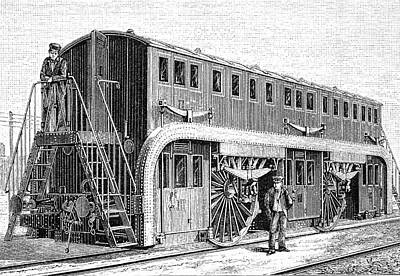 19th Century Double-decker Train Carriage Poster