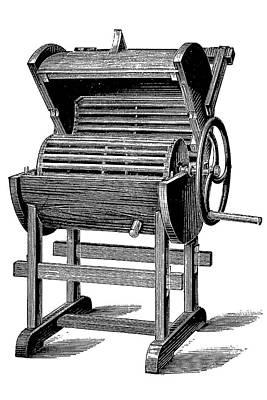 19th Century Washing Machine Poster