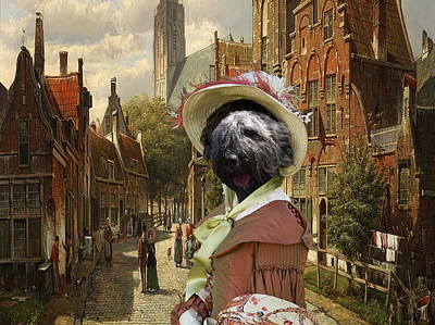 Bouvier Des Flandres - Flandres Cattle Dog Art Canvas Print Poster by Sandra Sij