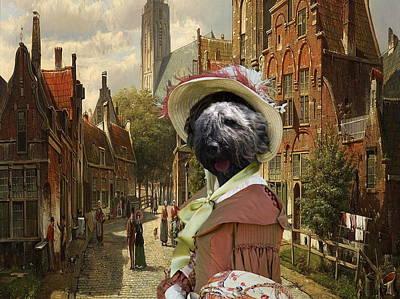 Bouvier Des Flandres - Flandres Cattle Dog Art Canvas Print Poster