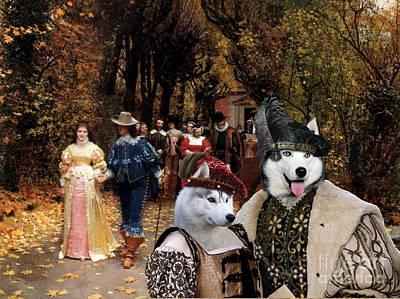 Siberian Husky Art Canvas Print  Poster by Sandra Sij