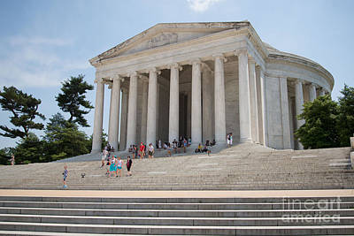 Thomas Jefferson Memorial Poster by Carol Ailles