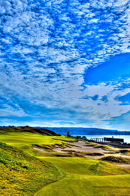 #16 At Chambers Bay Golf Course - Location Of The 2015 U.s. Open Championship Poster by David Patterson