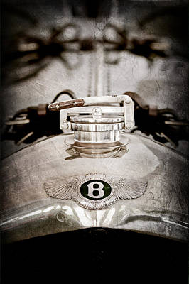 1925 Bentley 3-liter 100mph Supersports Brooklands Two-seater Radiator Cap Poster