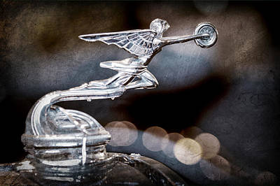 Poster featuring the photograph 1930 Packard Model 733 Convertible Coupe Hood Ornament by Jill Reger