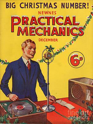 1930s Uk Practical Mechanics Magazine Poster