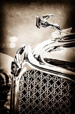1931 Chrysler Cg Imperial Dual Cowl Phaeton Hood Ornament - Grille Poster by Jill Reger