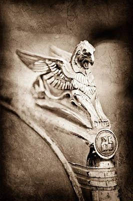 1932 Essex Griffin Hood Ornament Poster