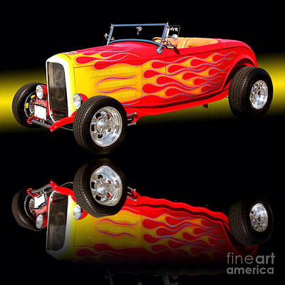 1932 Ford V8 Hotrod Poster by Jim Carrell