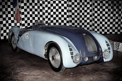 1936 Bugatti 57g Tank Poster by Boris Mordukhayev