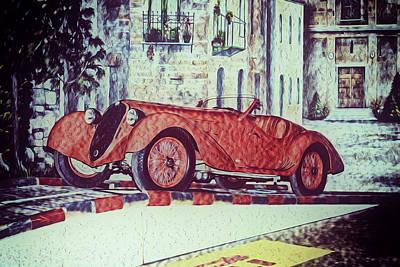 1937 Alfa Romeo 8c 2900a Poster