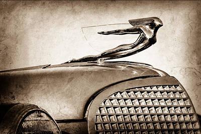 1937 Cadillac V8 Hood Ornament Poster by Jill Reger