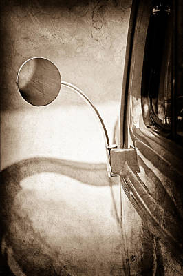 1940 Ford Deluxe Coupe Rear View Mirror Poster by Jill Reger