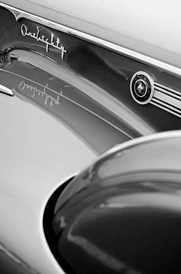 1941 Packard 1907 Custom Eight One-eighty Lebaron Sport Brougham Side Emblems Poster by Jill Reger