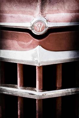 1950 Willys Overland Jeepster Hood Emblem Poster by Jill Reger