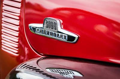 1955 Chevrolet 3100 Pickup Truck Emblem Poster by Jill Reger