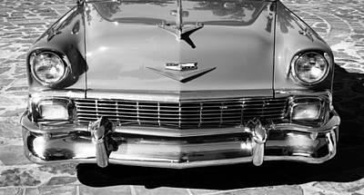 1956 Chevrolet Belair Convertible Custom V8 Poster by Jill Reger