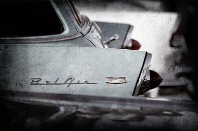 1956 Chevrolet Belair Nomad Rear End Emblem Poster by Jill Reger
