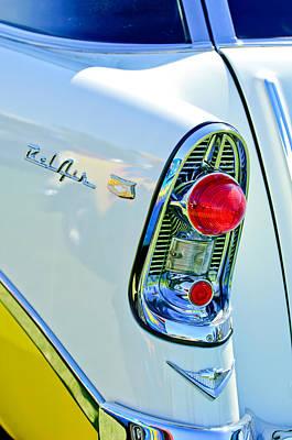 1956 Chevrolet Belair Nomad Taillight Emblem Poster by Jill Reger