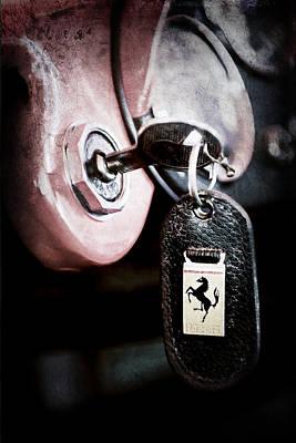 1956 Ferrari 500 Tr Testa Rossa Key Ring Poster
