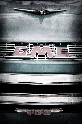 1956 Gmc 100 Deluxe Edition Pickup Truck Poster