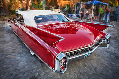 1960 Cadillac Eldorado Biarritz Convertible Painted  Poster by Rich Franco