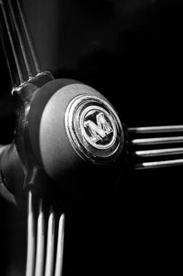 1960 Morris Minor Panel Delivery Truck Steering Wheel Emblem Poster by Jill Reger