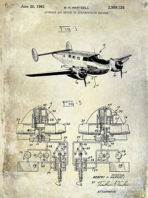 1961 Propeller Patent Blueprint Poster by Jon Neidert