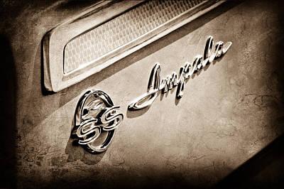 1962 Chevrolet Impala Emblem Poster by Jill Reger