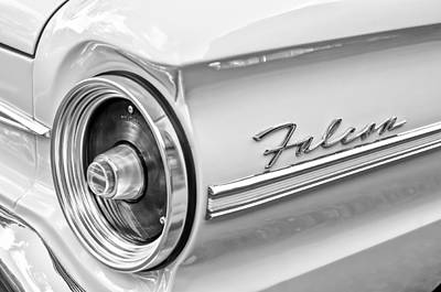 1963 Ford Falcon Futura Convertible Taillight Emblem Poster by Jill Reger