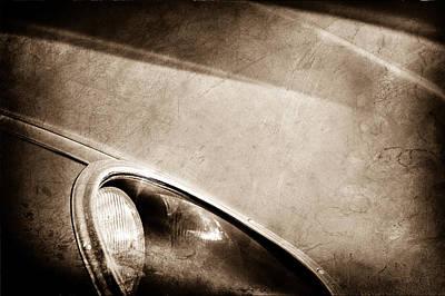 1963 Jaguar Xke Roadster Headlight Poster by Jill Reger